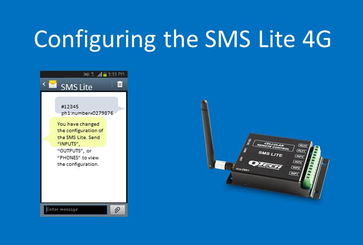 4G SMS Lite config